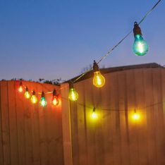 Battery Filament Effect Multi Coloured LED Festoon Lights