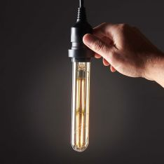 4W E27 Dimmable Vintage Tinted Tubular Filament Style, Warm White LED Bulb