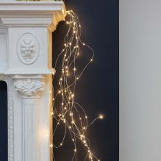 Christmas Tree Silver Firefly Multi Strand Branch Lights