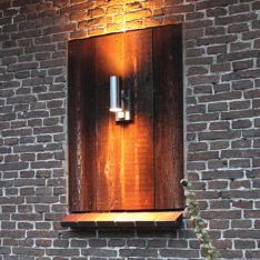 Eden 230V Wall Light in Stainless Steel, with PIR