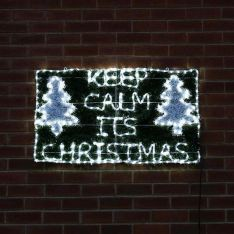 1m Outdoor Keep Calm It's Christmas Silhouette