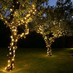 ConnectPro Outdoor LED String Lights, Connectable, Black Rubber Cable