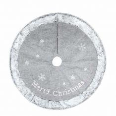 1cm Grey Fur Christmas Tree Skirt