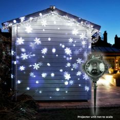 Outdoor Snowfall & Snowflake Projector, White LEDs