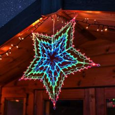 55cm Plug In Hanging LED Star Silhouette