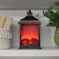 27cm Battery Flickering Fire Flame Lantern