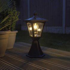 Solar Filament Effect LED Post Base Mount Light