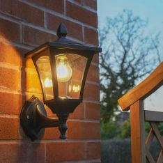 Outdoor Solar Filament Effect LED Security Wall Light