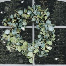 37cm Outdoor Eucalyptus Christmas Wreath