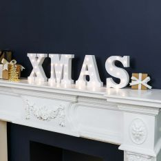 Xmas Battery Light Up Circus Letters, Warm White LEDs