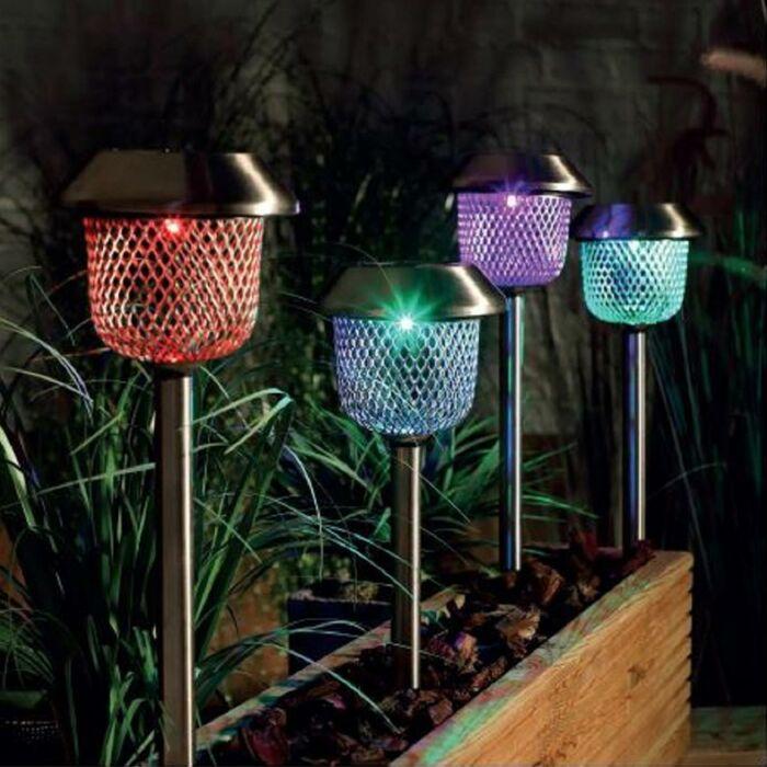 Solar Mesh Stake Lights, 4 Pack