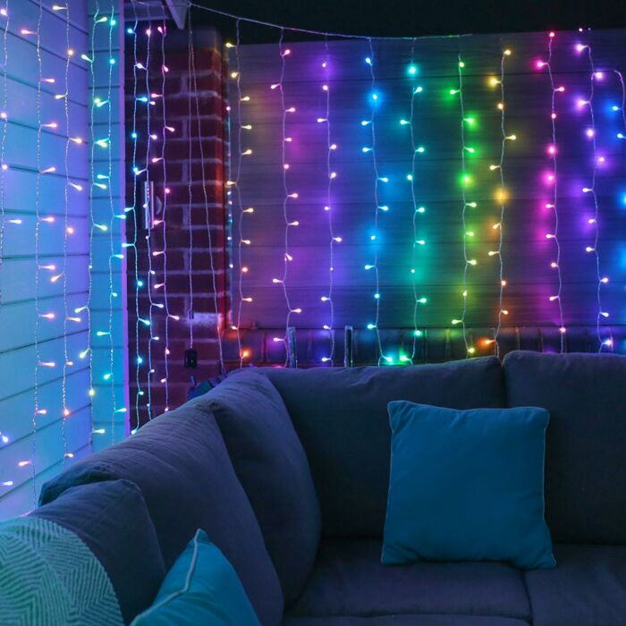 1m x 2.1m Smart App Controlled Twinkly Christmas Curtain Lights, Special Edition - Gen II